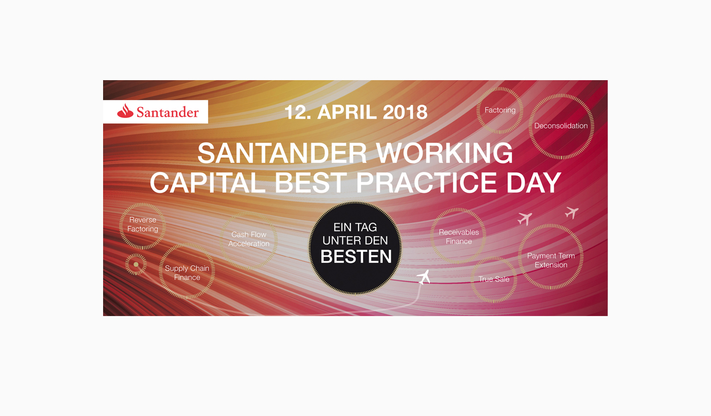Print Einladung - Santander - Working Capital Best Practice Day