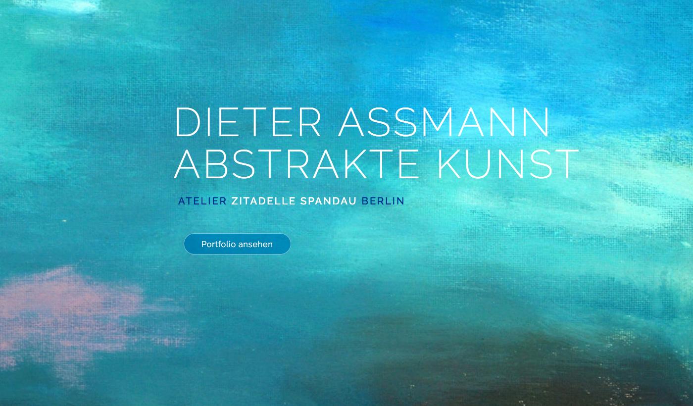 Webdesign - Abstrakte Kunst Berlin - Dieter Assmann