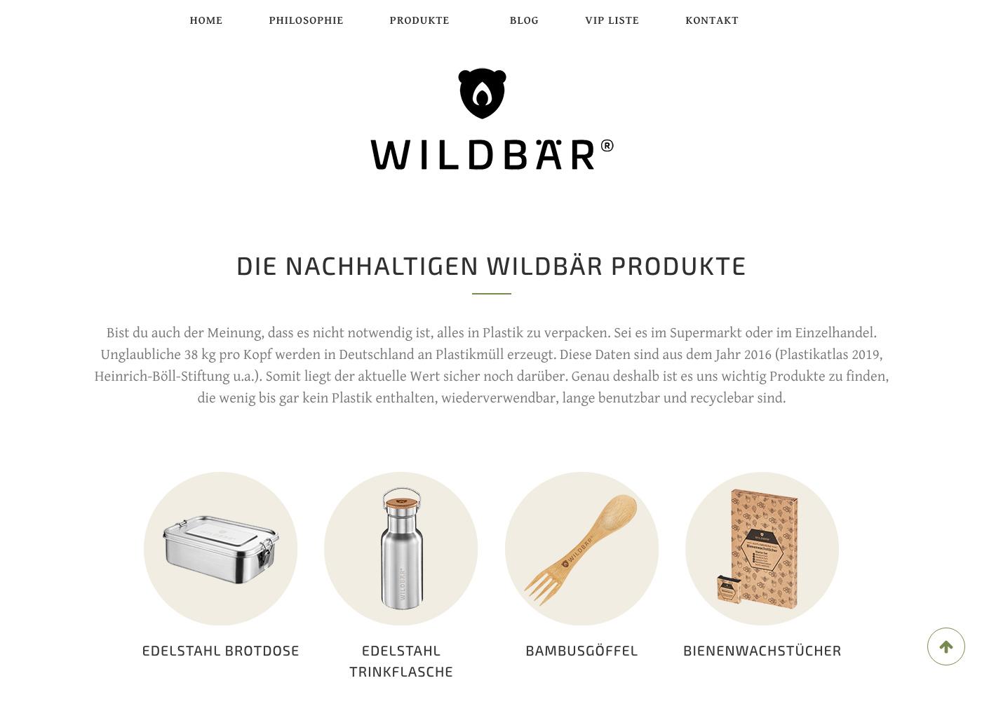 Wildbär - Die nachhaltigen Produkte