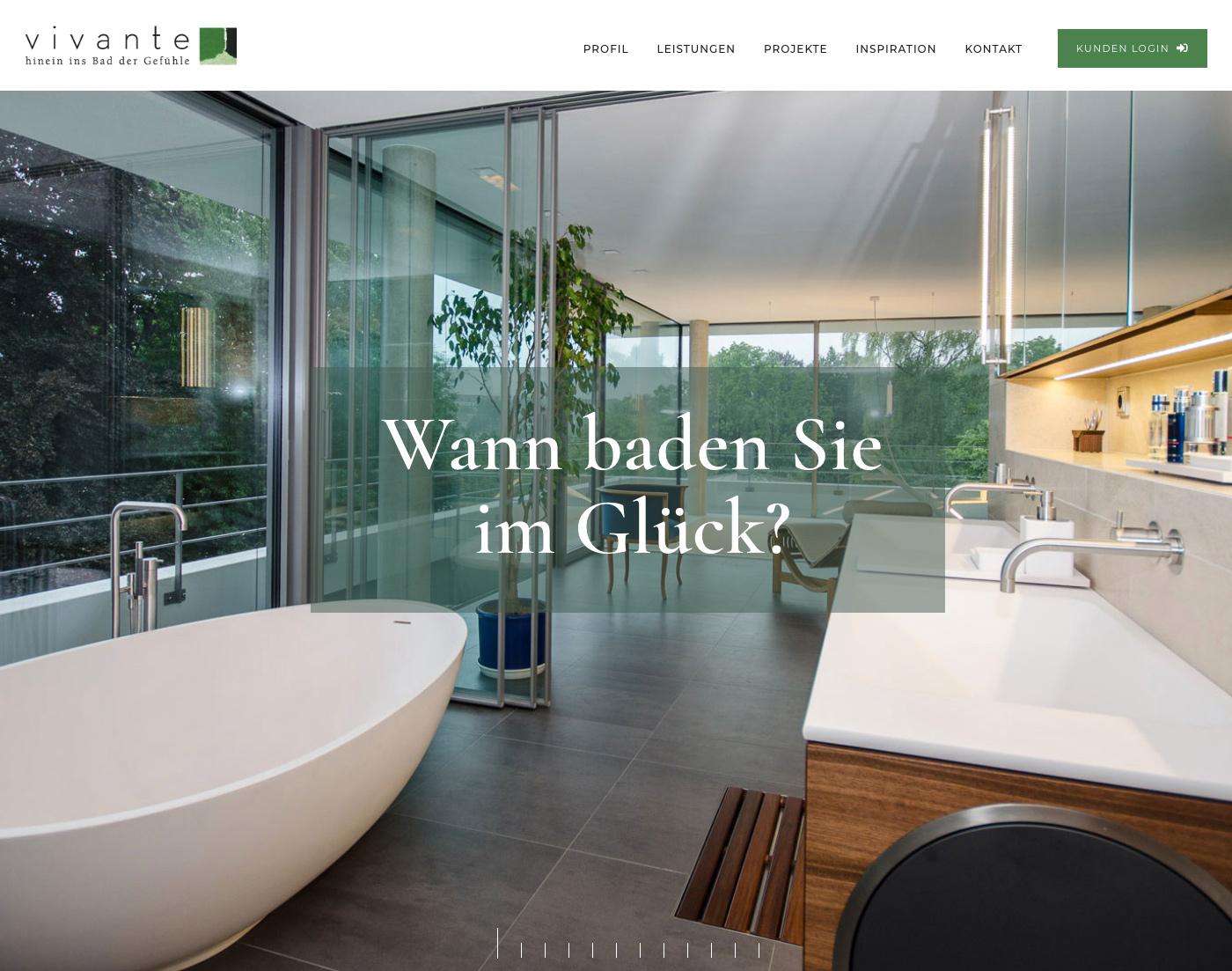 Webseiten Erstellung vivante Design