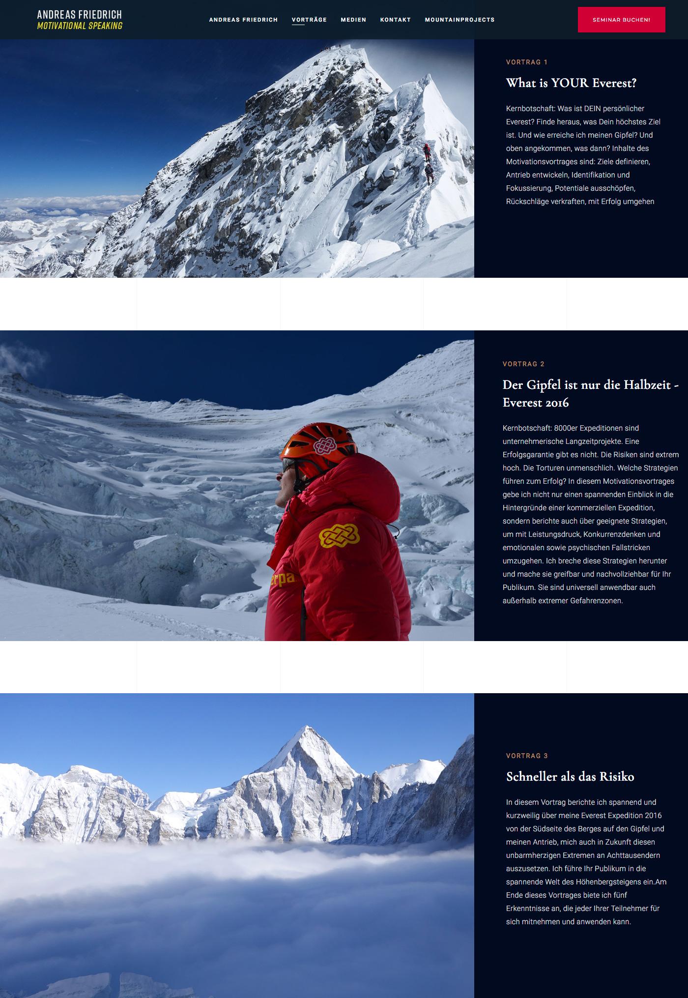 Webdesign Webseite - Andreas Friedrich - Vorträge